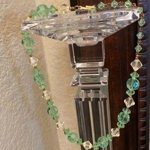 """Vintage Lisner crystal necklace choker length 16"""""""